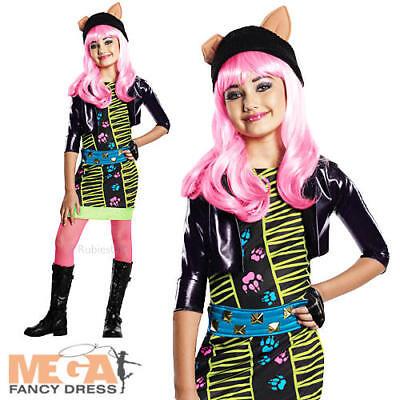 Girls Fancy Dress Wolf Animal Kids Childs Costume Outfit  (Monster High Kostüm Howleen)