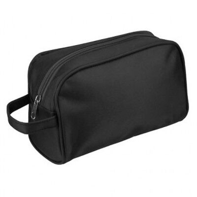 Quality Mens Large Travel Toiletries Cosmetic Shaving Wash Bag Case New BLACK