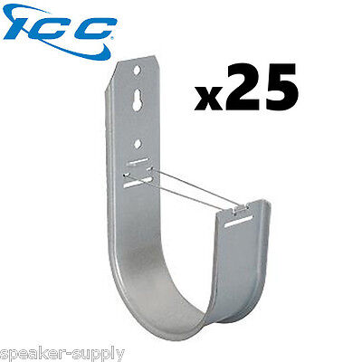 "ICC 25 Pack 4"" J-Hook Wall Ceiling Mount Route Network Cable Wires ICCMSJHK55"