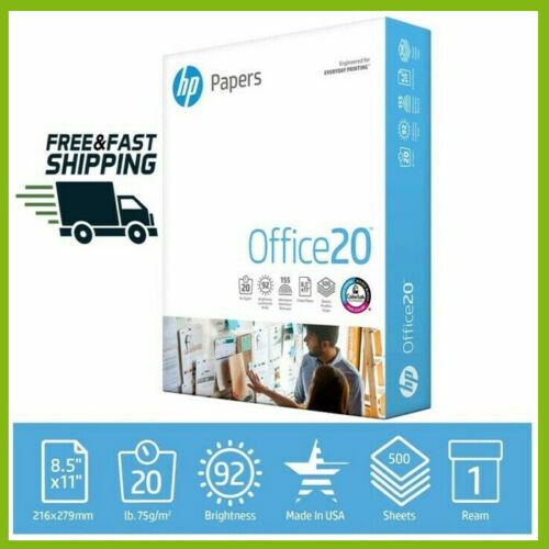 HP Printer Paper Home Office Copy Print Letter Office20 500 Sheets 1 Ream 8.5x11