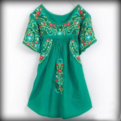 32680279dc0437 Mexican Blouse | eBay