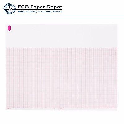 Burdick 007868 Ecg Ekg Paper Thermal Recording Chart Red 25 Pack X 200 Sheet