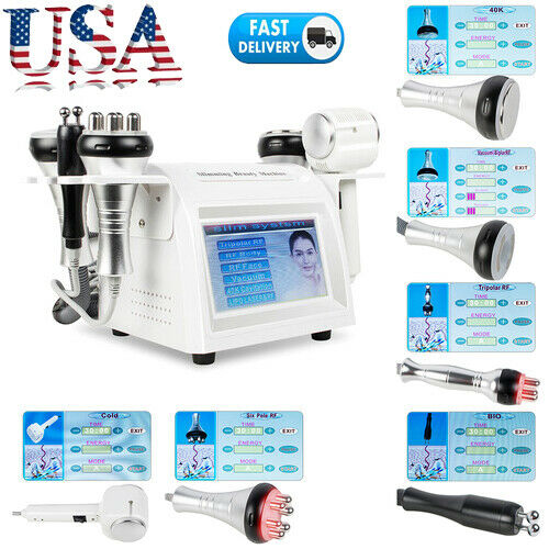 8in1 40K Cavitation Vacuum Multipolar RF BIO Slimming Cellulite Removal Machine