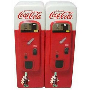 Coca Cola - Vending Machine Salt And Pepper Shakers / Pots - New & Official