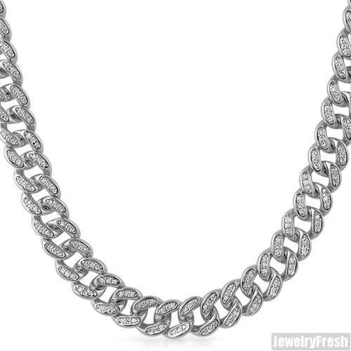 White Gold Chain Bracelet: Mens White Gold Necklace