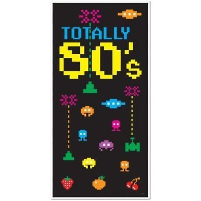 80's Kostüm Party Retro Dekor Tür Abdeckung - - Retro Videospiel Kostüme