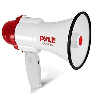 Pyle Megaphone Speaker Pa Bullhorn - With Built-in Siren 30 Watt Voice Recorder