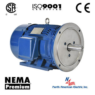 2 Hp Electric Motor 184td 1200 Rpm Nema Premium Efficient 3 Phase Severe Duty