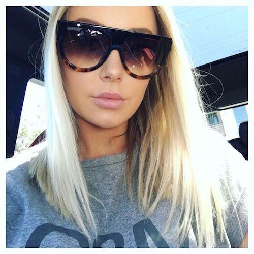 """SHADOW"" Women Sunglasses Teardrop Aviator Flat Top BLACK Ombre Shadz GAFAS"