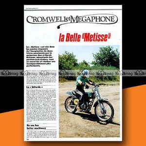 """RICKMAN METISSE (MOTO-CROSS) Article de Presse Moto #b133 - France - État : Occasion : Objet ayant été utilisé. Consulter la description du vendeur pour avoir plus de détails sur les éventuelles imperfections. Commentaires du vendeur : """"Trs bon état"""" - France"""