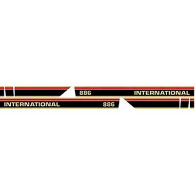 New 886 International Tractor W Cab Red Stripe Tractor Hood Decal Kit
