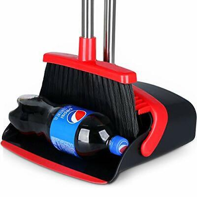 """Large Broom and Dustpan 2021 Upgrade Dust pan Broom Set with Heavy Duty 55"""" L..."""