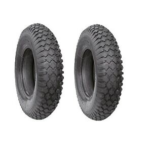SET OF 2 x 4.00 - 4 TYRE 400 - 4 TROLLEY TYRE 4.10/3.50-4 NEW with TUBE