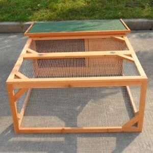 Extra window Rabbit,Ferret,Guinea Pig Cage with Run Hutch T017 Keysborough Greater Dandenong Preview