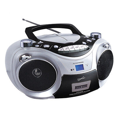 SuperSonic Portable Bluetooth Audio System w/ CD & Cassette Player Radio USB AUX