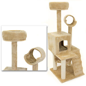Deluxe-52-Cat-Tower-Tree-Condo-Scratcher-Furniture-Kitten-House-Hammock-New