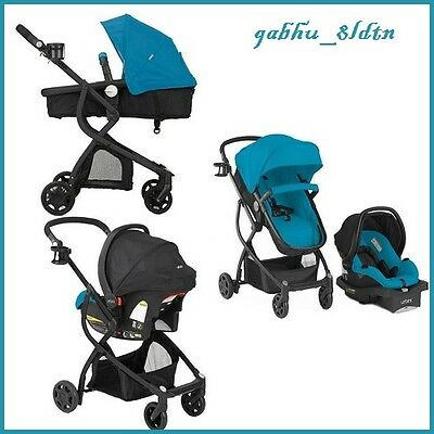 Baby Stroller and Car Seat Travel System Infant Carriage Buggy Bassinet Teal NEW