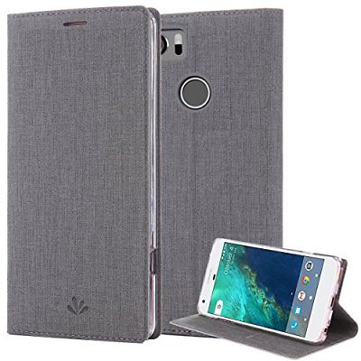 Google Pixel 2 XL Case PU Leather Slim Flip Wallet Card Slots Cover Kickstand