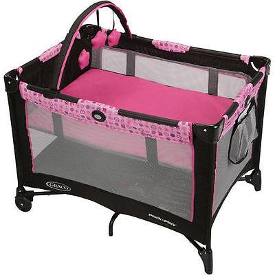 Graco Travel Playpen Pack n Play Play Yard Portable Folding Baby Crib Bassinet