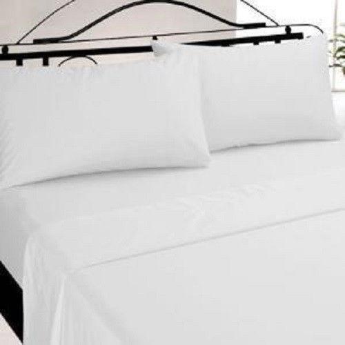 king size white flat sheets ebay. Black Bedroom Furniture Sets. Home Design Ideas