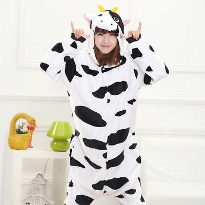 new Cow Onesie0 Adult Men Women Unisex Cosplay Costume Pyjama ](Cow Onesie Adults)
