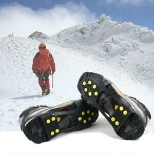 ICE TRACTION CLEATS - SNOW GRIPS - ANTI SLIP - WALK OR RUN ON SLIPPERY ICE AND SNOW WITHOUT INJURY !!