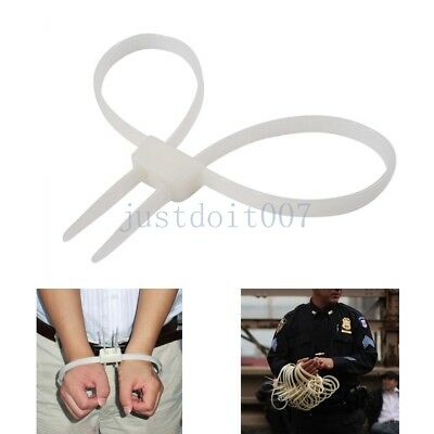 20pcs Disposable Self Locking Cuffs Flex Double Restraint Zip Tie Servival loop, used for sale  Shipping to Canada