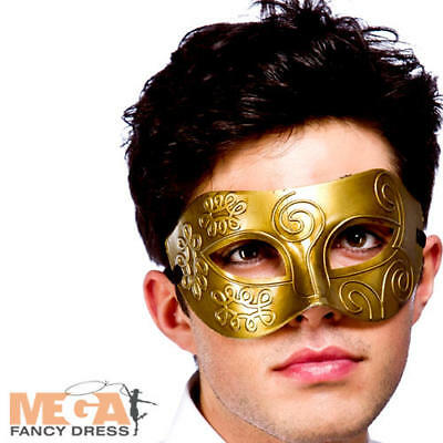 Gold Rome Eyemask Masquerade Ball Fancy Dress Ancient Roman Greek Costume Mask  - Ancient Rome Costumes