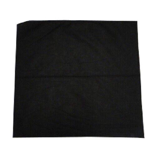 3+x+NO+Pattern+Plain+Bandana+Head+Neck+Scarf+Face+Covering+Mask+Wrist+Wrap+Black