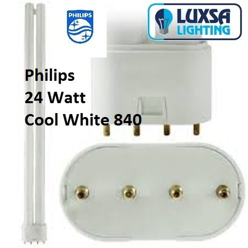 Philips 24W 4 pin Cool White 840 Dulux-L, Biax-L, PLL and Lynx-L
