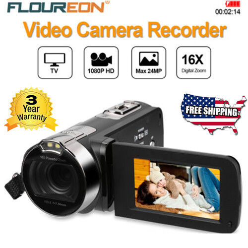 1080P HD 16x Zoom Camcorder Digital Video Camera TFT LCD 24M