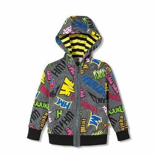 Harajuku Mini / Gwen Stefani / Hoodie Full Zip Graffiti Sweatshirt  / Kids 5T