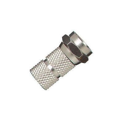 Pack of 2 - RG59 F-Type Twist-On Coax Cable Connector Plug Male CCTV CATV Male Catv Twist