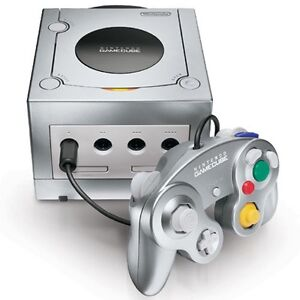 Nintendo game cube and two controllers