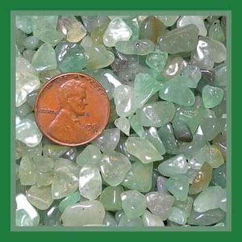 Green Aventurine Gemstone Embellishment UNDRILLED Small-Medium Chips 50g 1.75 oz