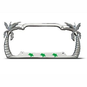 TURTLES TURTLE PALM TREE TREES License Plate Frame Tag Holder