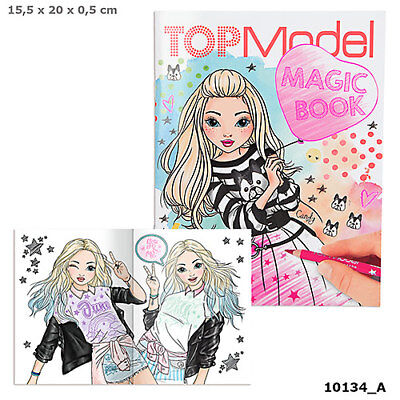 TOP Model TOPModel MAGIC BOOK Malbuch magicbook durch schraffieren sichtbar mach