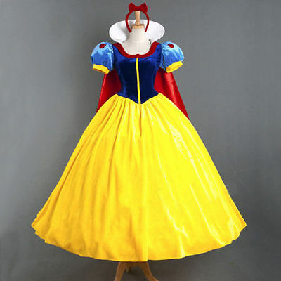 Disney Snow White Princess Cosplay Costume Halloween Fairytale Party Ball Gown  (Halloween Costume Ball Gowns)