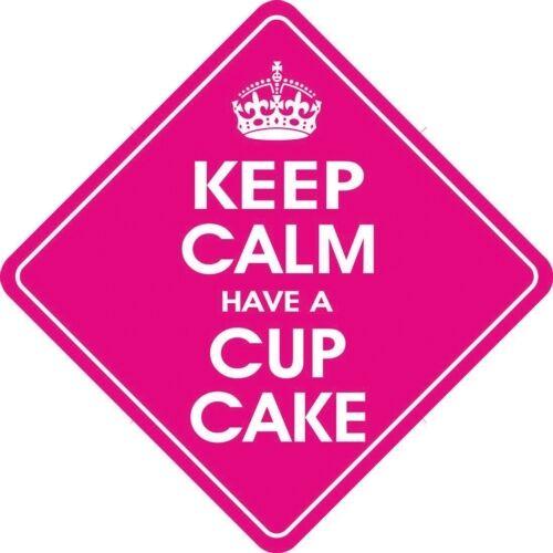 Keep Calm & Have A Cup Cake Diamond shaped Car Window Hanger Graphics