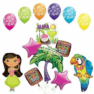 The Ultimate Luau Parrot and Hula Girl Party Supplies and Balloon Decorations Hula Girl Party Supplies