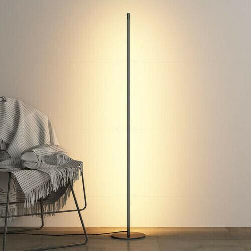 minimalist led floor lamps aluminum living room