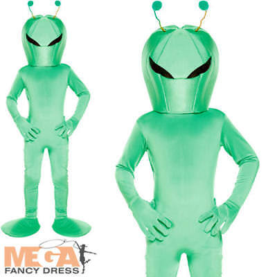 Alien Girl Costume (Alien Kids Fancy Dress Halloween Martian Sci Fi Movie Boy Girl Childrens)