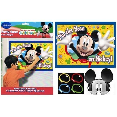 Mickey Mouse Party Games Pin The Nose On Mickey Games For 2 To 8 Players