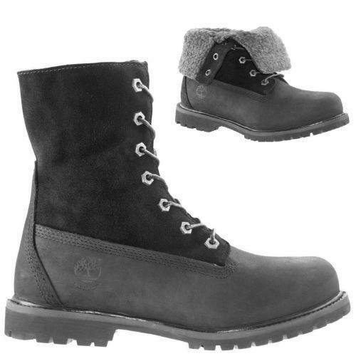 womens black leather timberland boots ebay