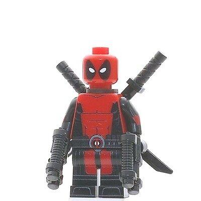 NEW Genuine Lego Custom Printed DEADPOOL Lego Minifigure Pad Printing