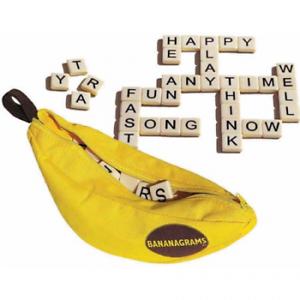 Bananagrams Word Game Letter Tiles and Banana Carry Bag  Fas