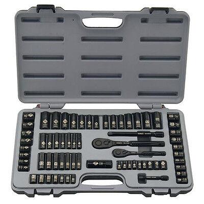 STANLEY Black Chrome and Laser Etched 69 Piece Socket Set - 92-824
