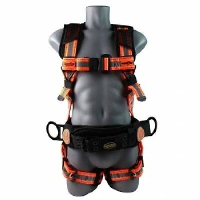 Guardian Fall Protection 21061 Cyclone Construction Harness Blackorange Sew...