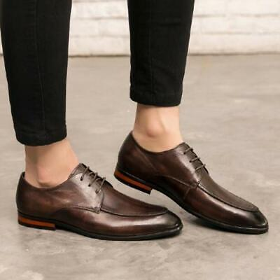 Details about  /38-44 Mens Low Top Faux Leather Business Shoes Oxfords Work Office Lace up Hot L