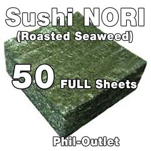 50 Sheets (FULL) Roasted Seaweed (NORI) - Free Shipping